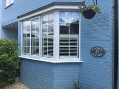 View a range of bay window shutters from Shuttersouth, Hampshire's leading shutter design and installation experts. Custom made bay shutters for all budgets Bay Window Shutters, Bay Windows, Cafe Style Shutters, Shutter Designs, Shutter Blinds, Curtains With Blinds, Southampton, Garage Doors, Outdoor Decor