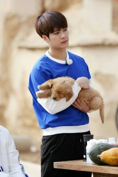 Wangie and a puppy. This is perfection