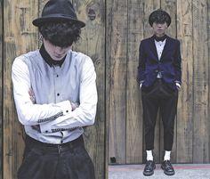 Get this look: http://lb.nu/look/5990129  More looks by IVAN Chang: http://lb.nu/ivan  Items in this look:  Tastemaker 達新美 Smart Shirt, Tastemaker 達新美 Black Pants