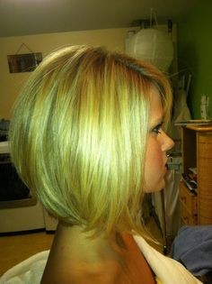 Low stacked bob. This is how my hair will be cut after the wedding
