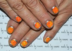 I love these simple yet really pretty, classy and versatile nails. After cleaning, filing, and applying a base coat: 1. apply one thin coat of a bright yellow polish 2. working one nail at a time, apply another, slightly thicker coat of yellow...