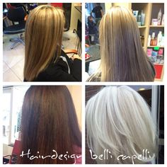 In 10 minuten As blond, wit blond, warm bruin, blond.