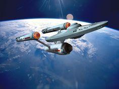 Star Trek: Starship Enterprise by davemetlesits Star Trek Tv Series, Sci Fi Series, Star Trek Tos, Star Wars, Scotty Star Trek, Uss Discovery, Starfleet Ships, Nasa Photos, Enterprise Ncc 1701