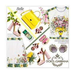 """Designer Set: Dolce & Gabbana"" by dani-elan ❤ liked on Polyvore featuring Kerr®, Dolce&Gabbana, flower and dolceandgabbana"