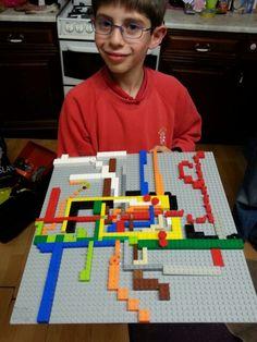 My son's Lego underground map