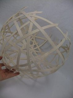 Midelino cane coil globe cup ready to design with