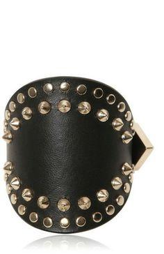 GIVENCHY Studded Leather Cuff Bracelet - Lyst