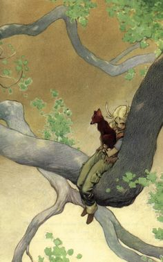 illustration by Charles Vess from Medicine Road by Charles de Lint.