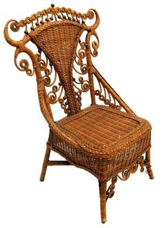 Wicker Chair #7632 #Victorian