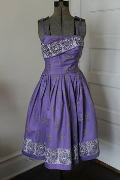 1950s ALFRED SHAHEEN Sun Dress  Unique color by Vintorious on Etsy
