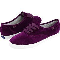 purple velvet keds