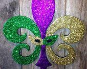 Fleur de Lis - Mardi Gras door hanger.