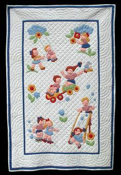 kids at play crib quilt   The Quilt Complex