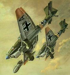 La Pintura y la Guerra. Sursumkorda in memoriam Luftwaffe, Military Drawings, Aircraft Painting, Airplane Art, Aviation Art, Fighter Aircraft, Panzer, Military Art, Military Aircraft