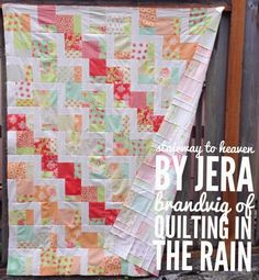 Hi All! In case you missed it, my Stairway to Heaven quilt was featured over on Moda Bakeshop last week. You can find a printable version of it HERE, or simply scroll down. Also, major props to @au…
