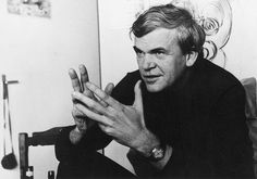 Milan Kundera - do not underestimate his vision on the European landscape. Milan Kundera, Grand Prix, I Am Statements, People Names, Writers And Poets, Jack Kerouac, Change My Life, Book Authors, Love Reading