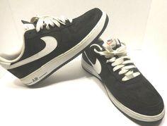 best service 65f44 d3c17 Nike Air Force 1 Low Black Suede White 488298-064 Sz 11  fashion  clothing   shoes  accessories  mensshoes  athleticshoes (ebay link)