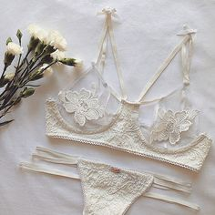 Forever on a Honeymoon in our Bridal SKIVVIES #forloveandlemons #honeymoonbra…