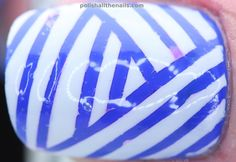 blue and white nails -volley ball nails