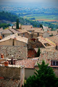 shot of provence roofs