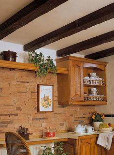 Decoración de techos de madera