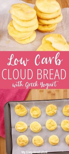 Could You Eat Pizza With Sort Two Diabetic Issues? This Low Carb Cloud Bread With Greek Yogurt Is A Cleaner Version Of The Traditional Cloud Bread Recipe That Is Usually Made With Cream Cheese. Cooking Tips Included. Low Carb Cloud Bread Recipe, Egg And Bread Recipes, Lowest Carb Bread Recipe, Low Carb Recipes, Healthy Recipes, Diet Recipes, Pork Recipes, Best Low Carb Bread, Recipies
