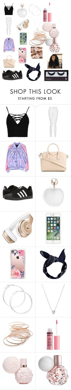 """""""so cute and so girly and so CHANEL and little mix and Camila 😘"""" by fathiaajokeanimashaun ❤ liked on Polyvore featuring beauty, Boohoo, Topshop, Givenchy, adidas, Beats by Dr. Dre, Casetify, claire's, Links of London and Red Camel"""