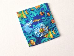 Mini Purse Cosmetic Bag Hand Made Ocean Theme by 2Fun4Words