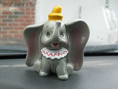 Vintage Ceramic Dumbo Elephant Figurine Walt by TheJunkieJunction, $15.00