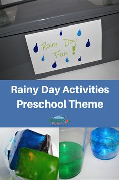 Rainy Day Activities Preschool Theme for those days you planned to take your classroom outside but the weather did not cooperate!