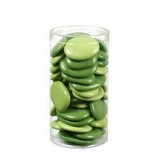 Galets en verre - vert (2 teintes) - GALET