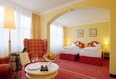Eines unserer Superior-Twinzimmer: hell, geräumig und freundlich.