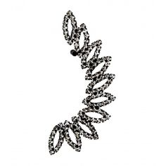 Oval Diamante Ear Cuff Earring (£6.26) ❤ liked on Polyvore featuring jewelry, earrings, crystal ear cuff, ear cuff jewelry, crystal earrings, crystal jewellery and earring jewelry