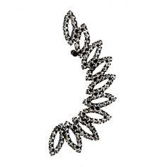 Oval Diamante Ear Cuff Earring ($7.51) ❤ liked on Polyvore featuring jewelry, earrings, oval earrings, crystal earrings, diamante jewelry, crystal jewellery and earring jewelry