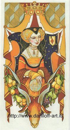 Queen of Pentacles, Alexander Daniloff 2012  Tarot