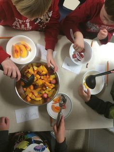 Cooking! Math, Language, working together...