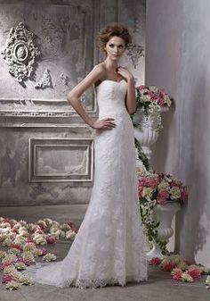 Unique Lace Sheath/ Column Sweetheart Natural Waist Floor Length Wedding Gown - Lunadress.co.uk