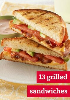 13 Grilled Sandwiches -- From a Southwest Chicken Salad Panini to BBQ Beef on Rye, take your sandwich from ordinary to extraordinary with our favorite grilled sandwich recipes.