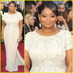 Octavia Spencer looked GORGEOUS on the Red Carpet at the Oscars.  I found out last summer during our interview she's a real class act too!