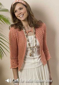 *Free Crochet Pattern: Turnberry Cardigan designed by Drew Emborsky