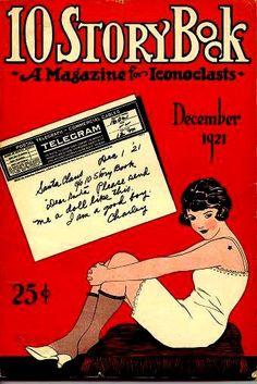 Dec 1921 Ten Story Book magazine vintage cover