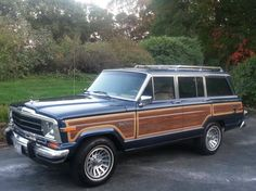 1990 Jeep Grand Wagoneer in DARK BALTIC BLUE METALLIC