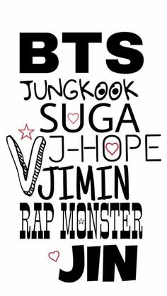 bts jungkook suga j-hope v jimin rap monster jin bts jungkook suga j-hope v jimin rap monster jin - BTS Wallpapers Bts Jungkook, Taehyung, Foto Bts, K Pop, Bts Name, Bts Lyric, Bts Backgrounds, Bts Korea, Bts Chibi