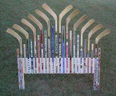 Hockey stick headboard idea