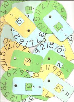 Ruedas de tablas de multiplicar