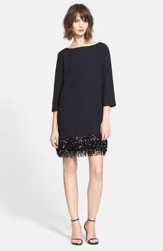 sequin fringe minidress / kate spade