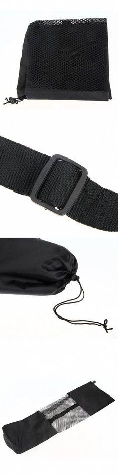 Yoga Mat Bag Fitness Carrier Nylon Mesh Center Strap