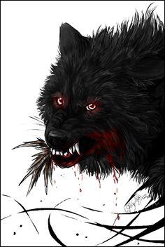 Prize: Black Wolf - kinpouju - by WhiteSpiritWolf on deviantART