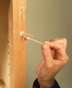 9 DIY Repairs for Kitchen Cabinets. I love the toothpick trick... works great for stripped out/loose screws.