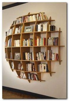 94 Amazing Bookshelf Design Ideas - Essential Furniture In Your Home Freestanding Double Sided Poplar Bookcase Manufacturer Diy Bookshelf Wall, Bookshelf Design, Wood Shelves, Bookshelf Ideas, Bookcase Decorating, Decorating Ideas, Creative Bookshelves, Decor Ideas, Diy Wall